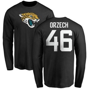 Matthew Orzech Jacksonville Jaguars Youth Black Any Name & Number Logo Long Sleeve T-Shirt -